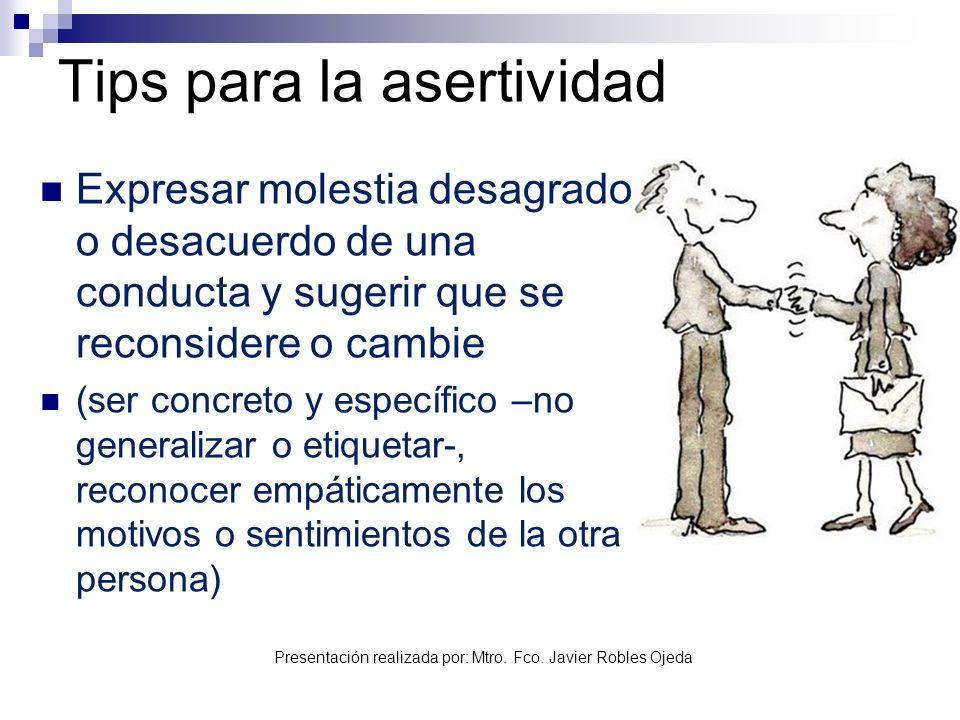 Tips para la asertividad
