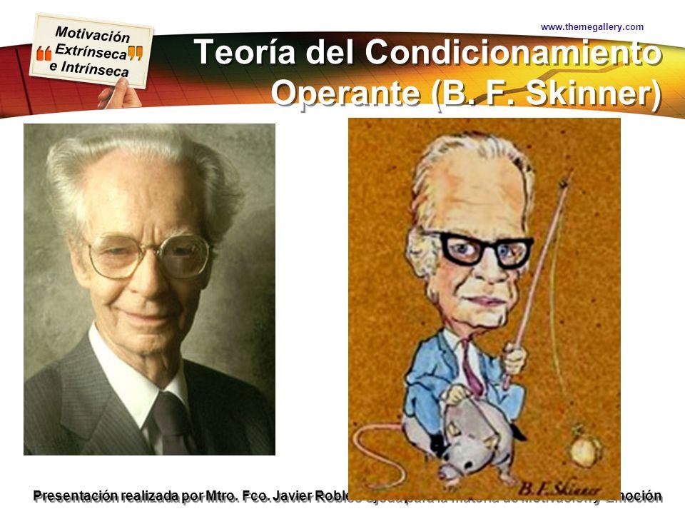 Teoría del Condicionamiento Operante (B. F. Skinner)
