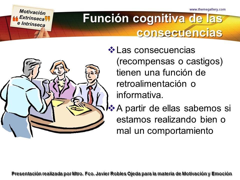 Función cognitiva de las consecuencias