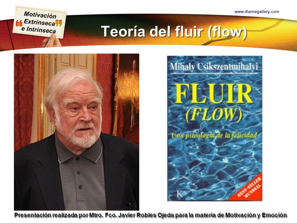 Teoría del fluir (flow)