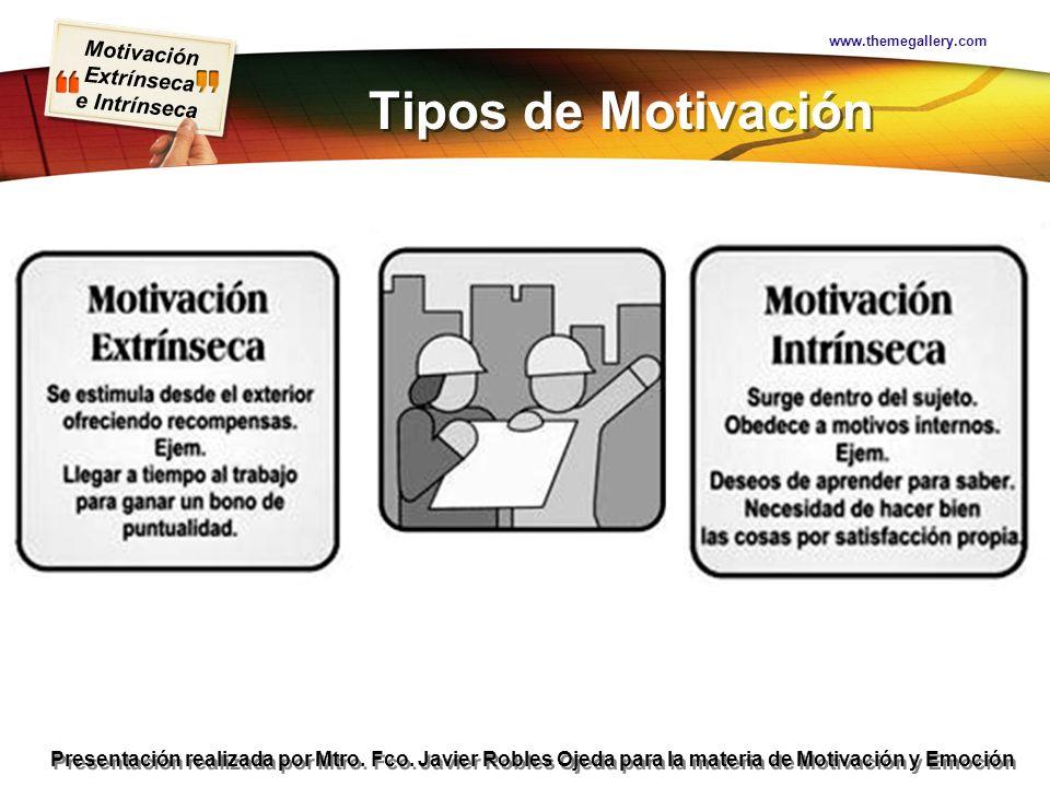 www.themegallery.com Tipos de Motivación