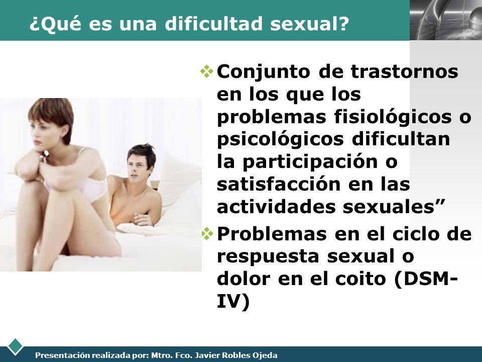 ¿Qué es una dificultad sexual