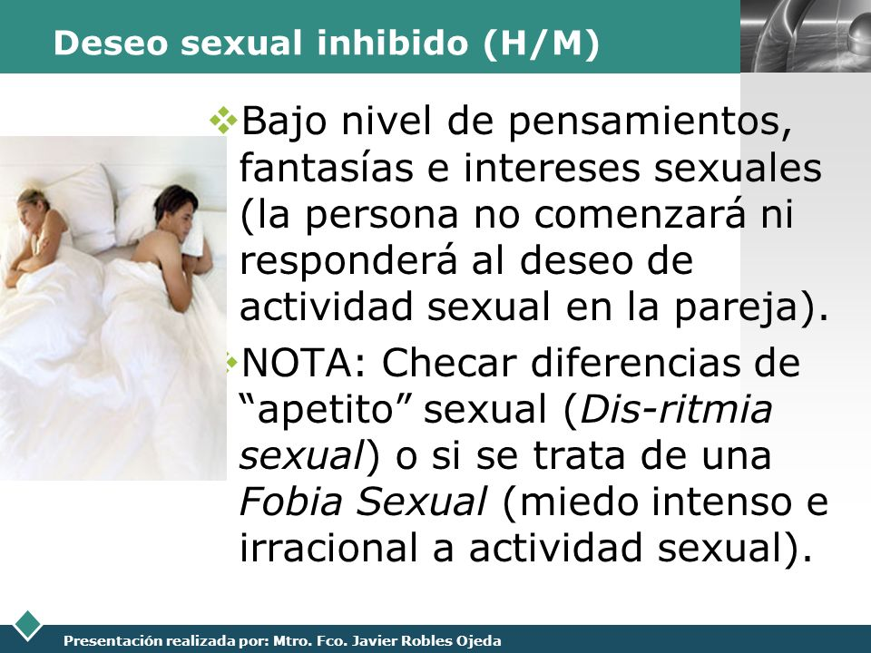 Deseo sexual inhibido (H/M)