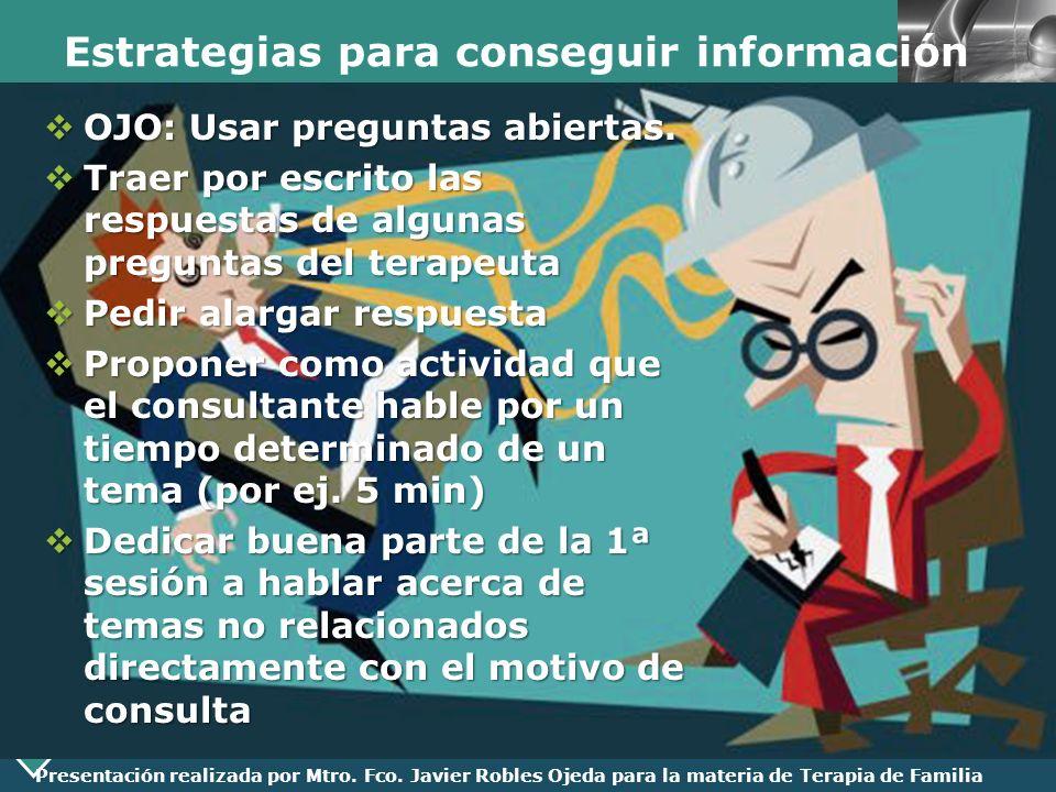 Estrategias para conseguir información