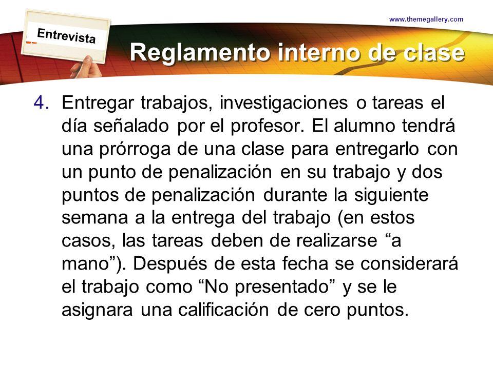 Reglamento interno de clase