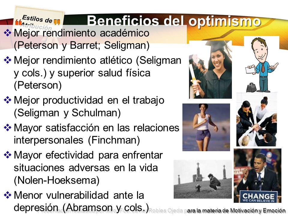 Beneficios del optimismo