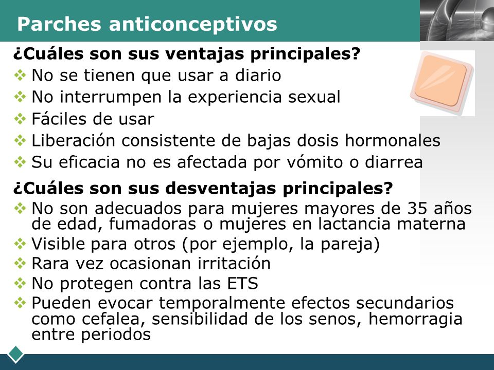 Parches anticonceptivos