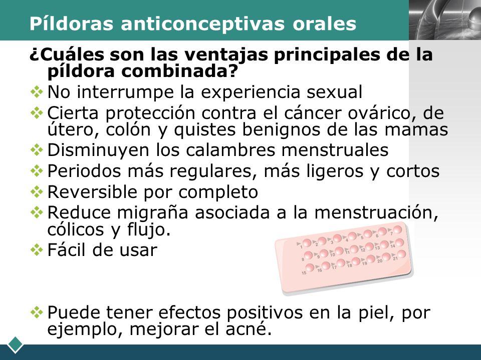 Píldoras anticonceptivas orales