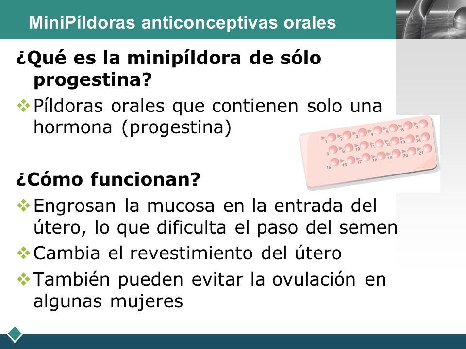 MiniPíldoras anticonceptivas orales