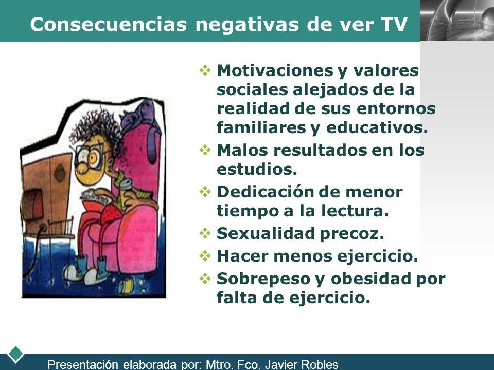 Consecuencias negativas de ver TV
