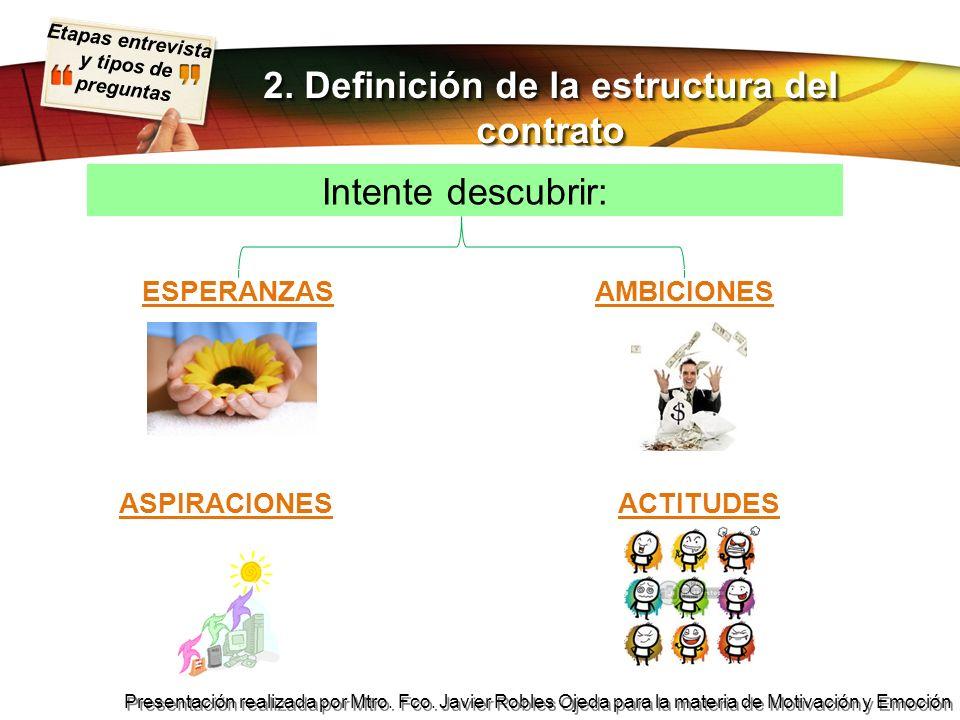 2. Definición de la estructura del contrato