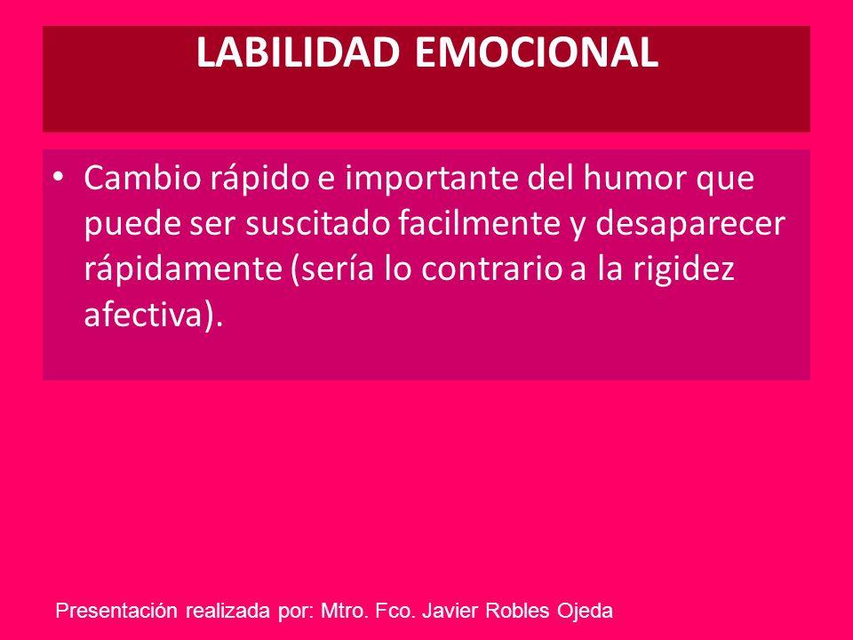 LABILIDAD EMOCIONAL