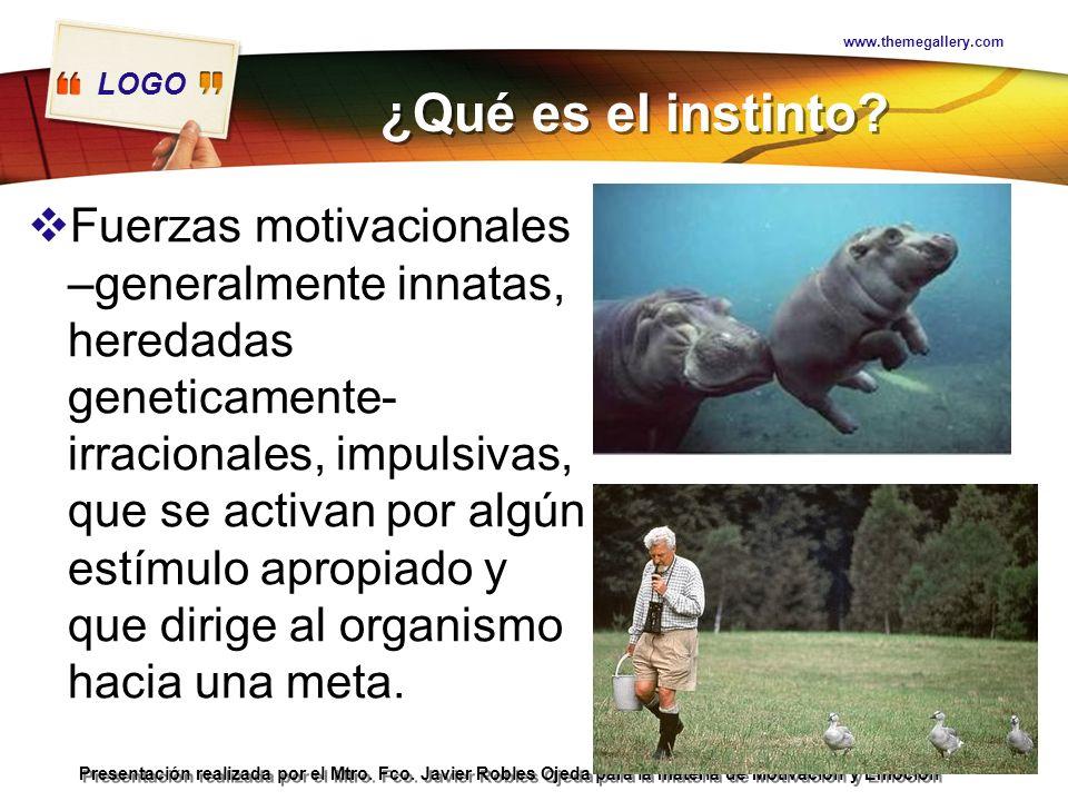 www.themegallery.com ¿Qué es el instinto