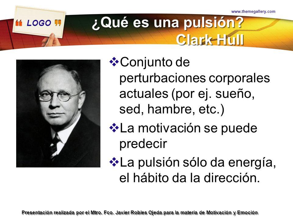 ¿Qué es una pulsión Clark Hull