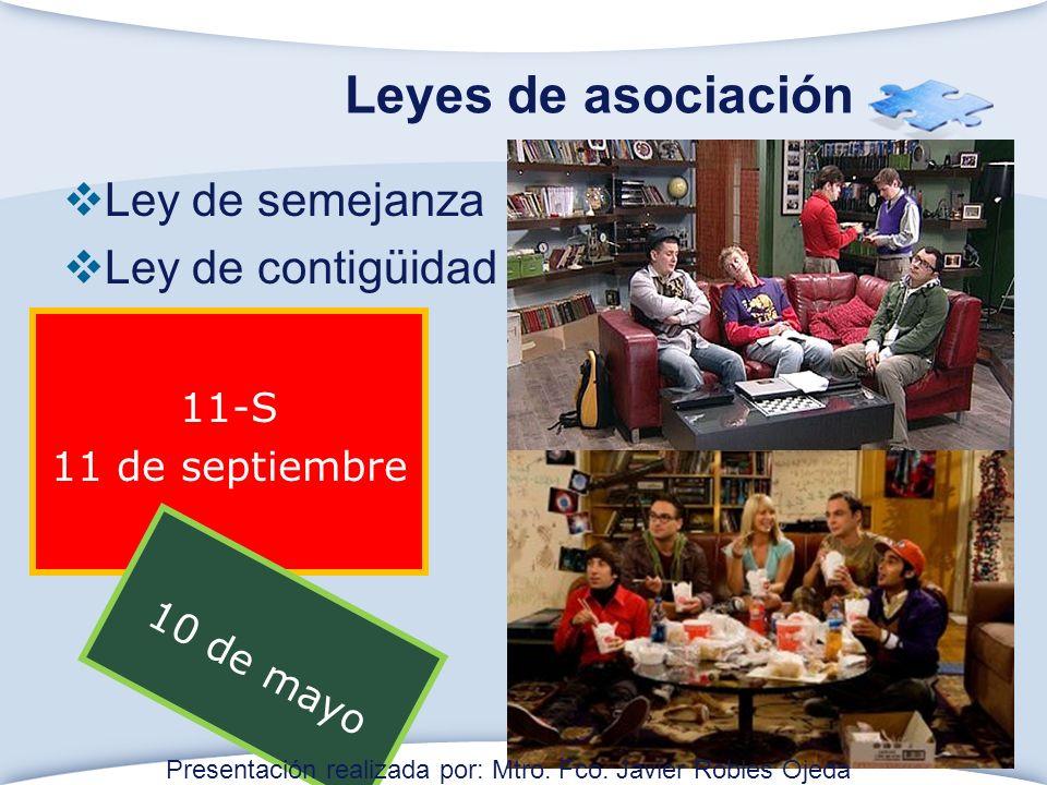 Leyes de asociación Ley de semejanza Ley de contigüidad 11-S