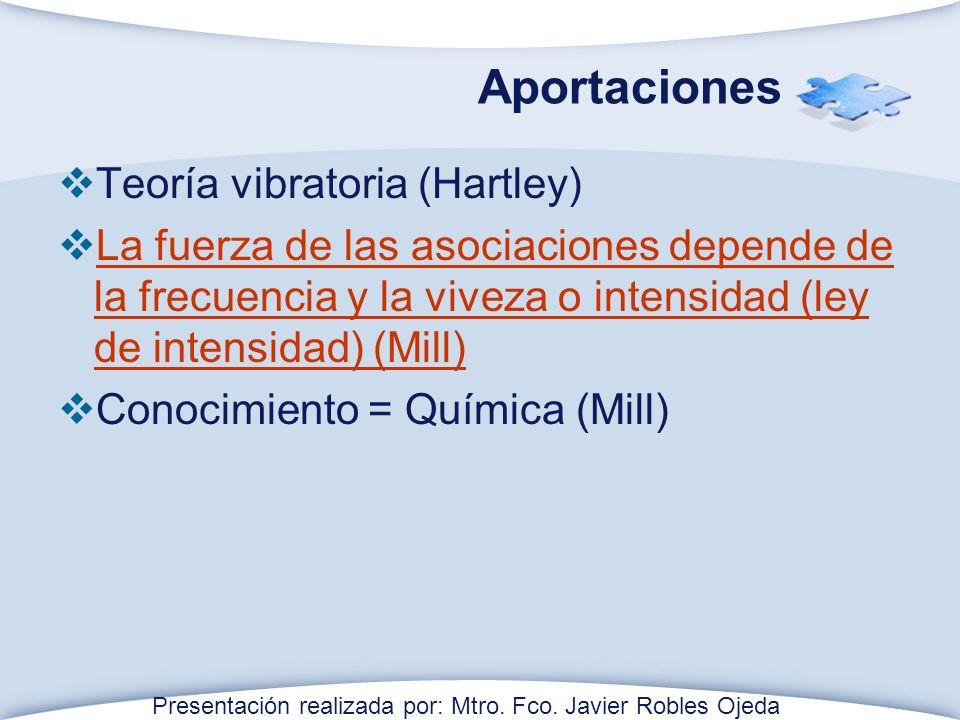 Aportaciones Teoría vibratoria (Hartley)