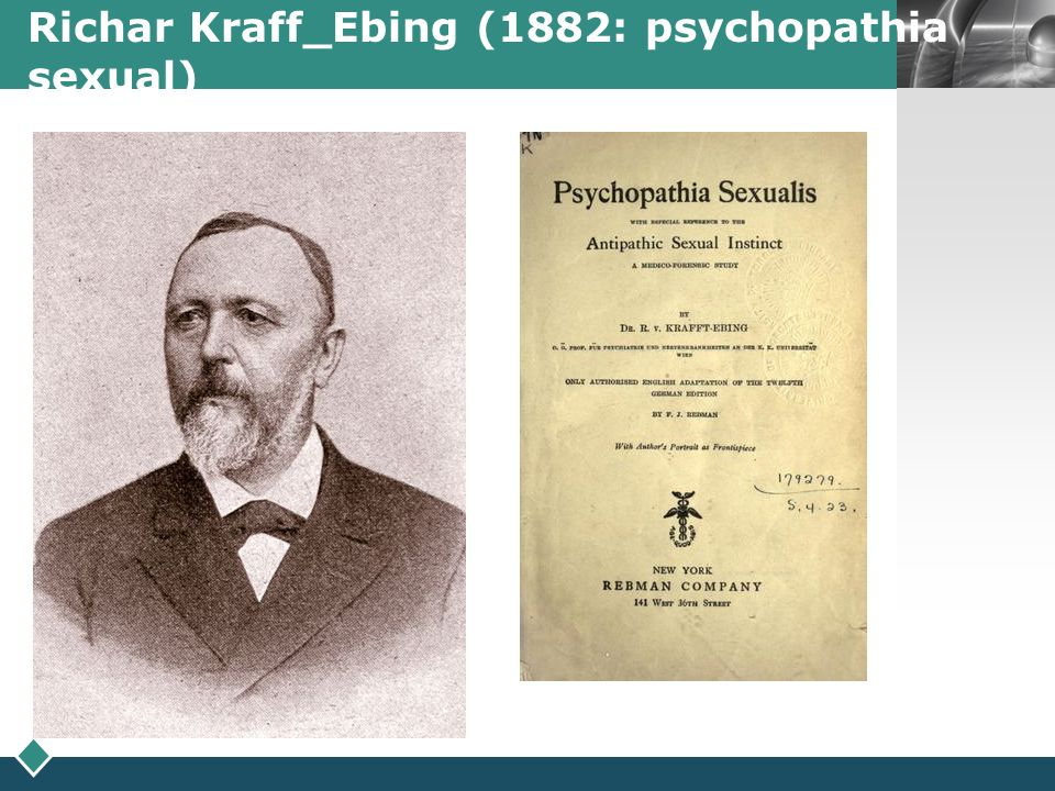 Richar Kraff_Ebing (1882: psychopathia sexual)