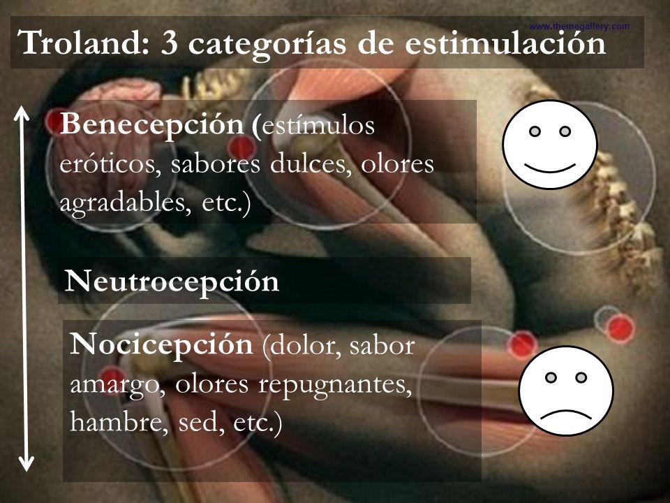 Troland: 3 categorías de estimulación