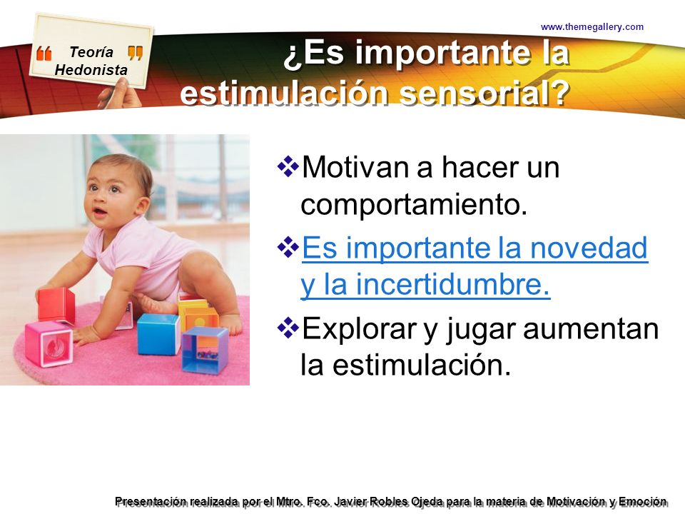 ¿Es importante la estimulación sensorial