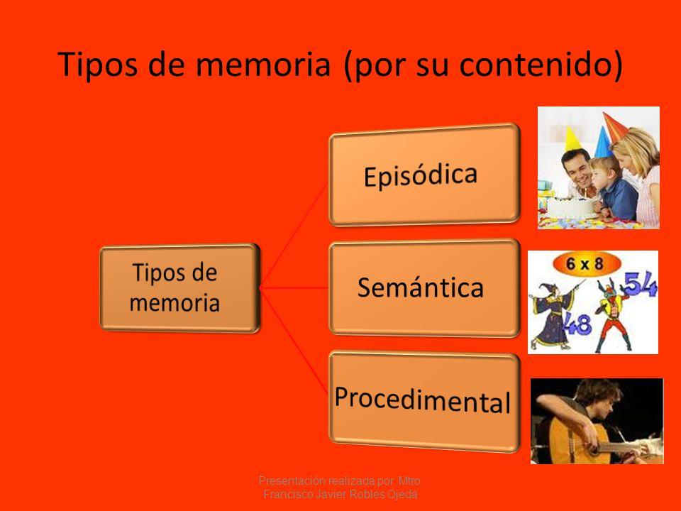 Tipos de memoria (por su contenido)