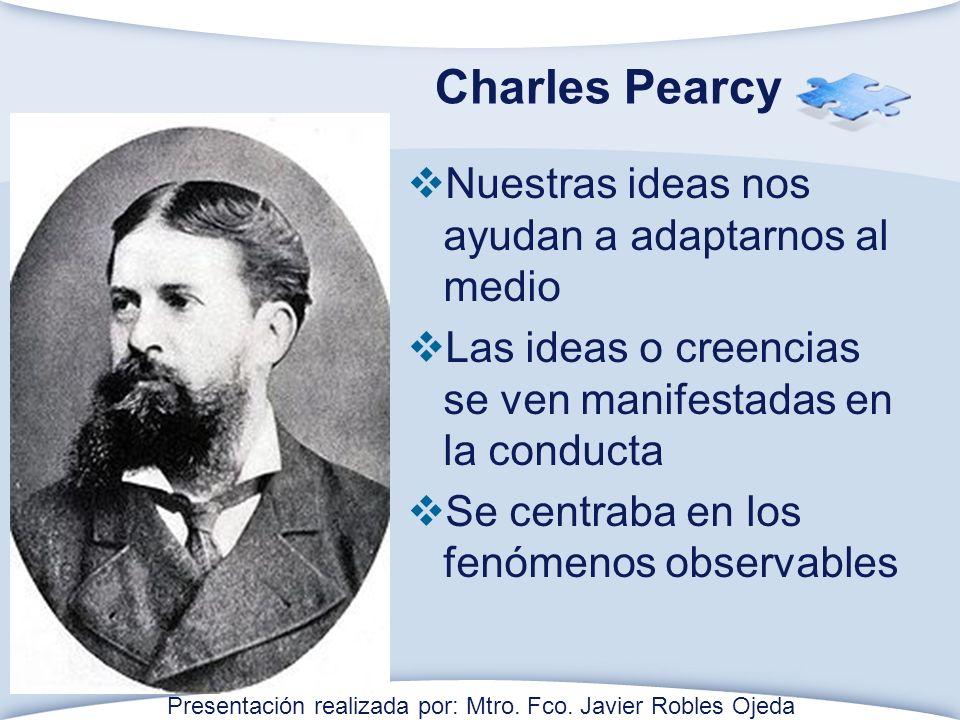 Charles Pearcy Nuestras ideas nos ayudan a adaptarnos al medio