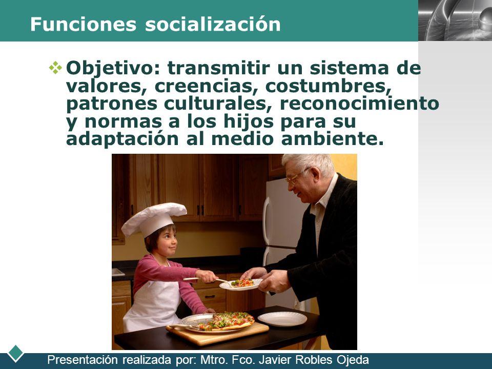 Funciones socialización