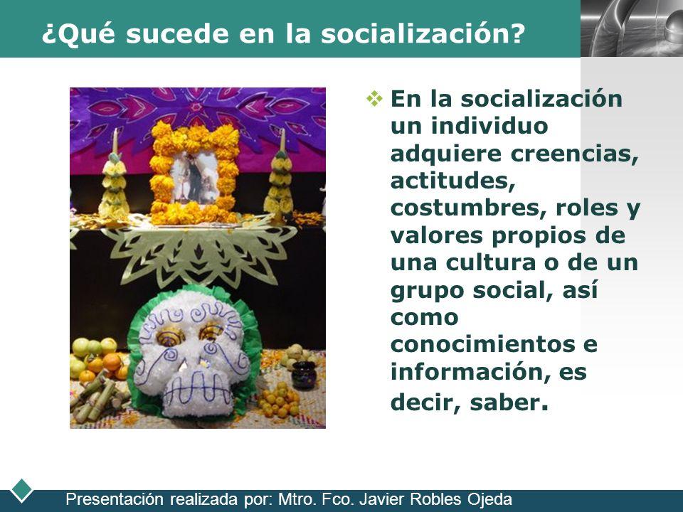 ¿Qué sucede en la socialización