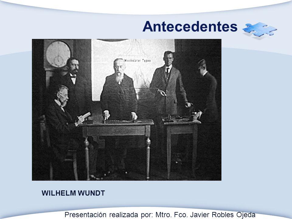 Antecedentes WILHELM WUNDT