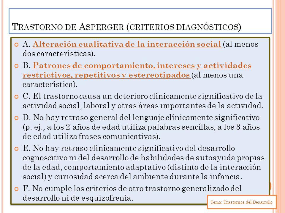 Trastorno de Asperger (criterios diagnósticos)