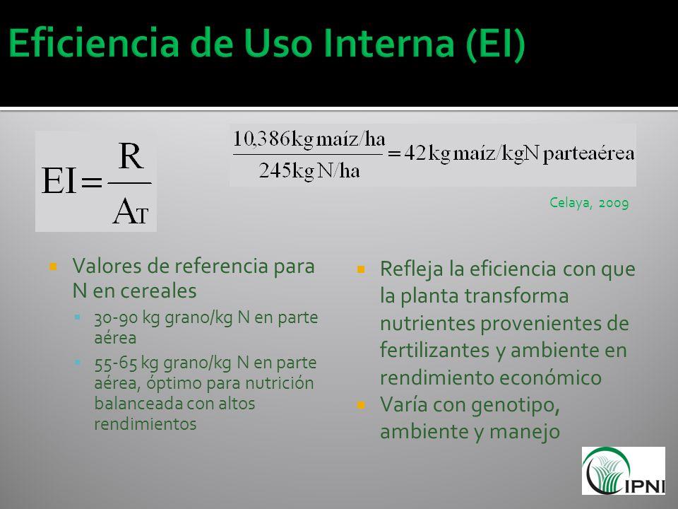 Eficiencia de Uso Interna (EI)