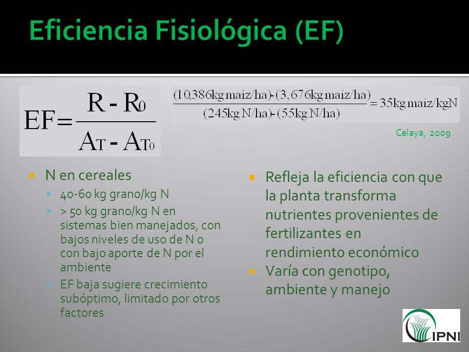 Eficiencia Fisiológica (EF)