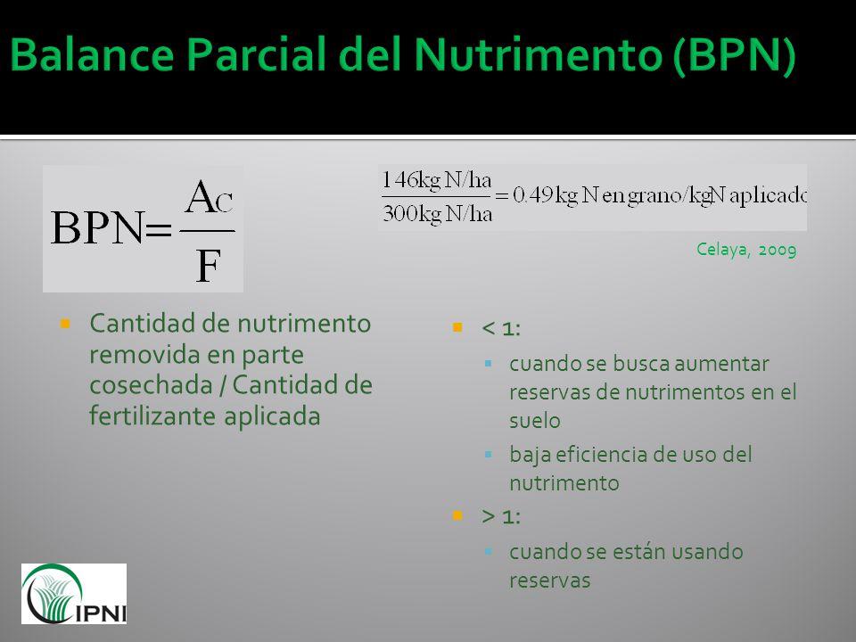 Balance Parcial del Nutrimento (BPN)
