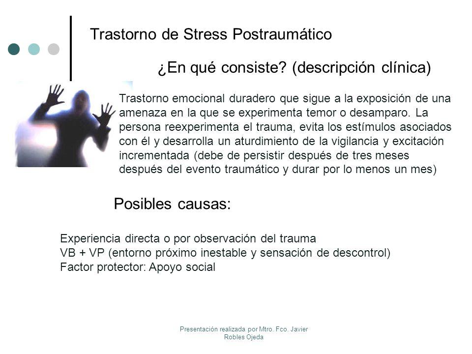 Trastorno de Stress Postraumático