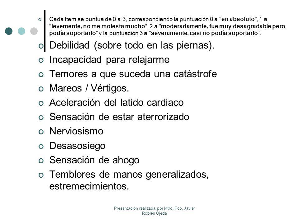 Presentación realizada por Mtro. Fco. Javier Robles Ojeda