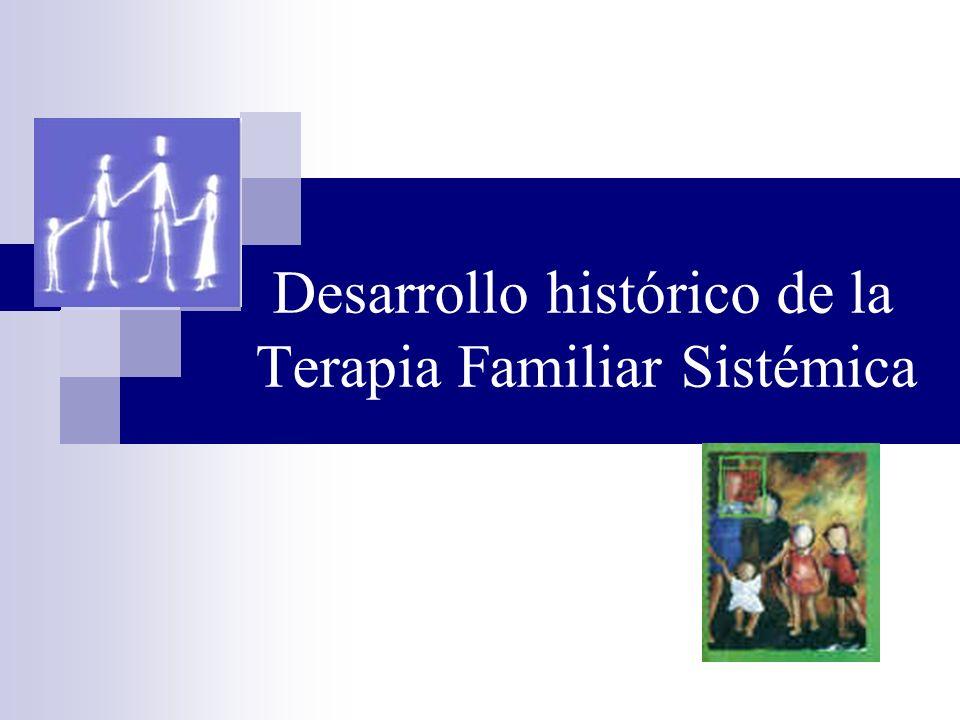 Desarrollo histórico de la Terapia Familiar Sistémica