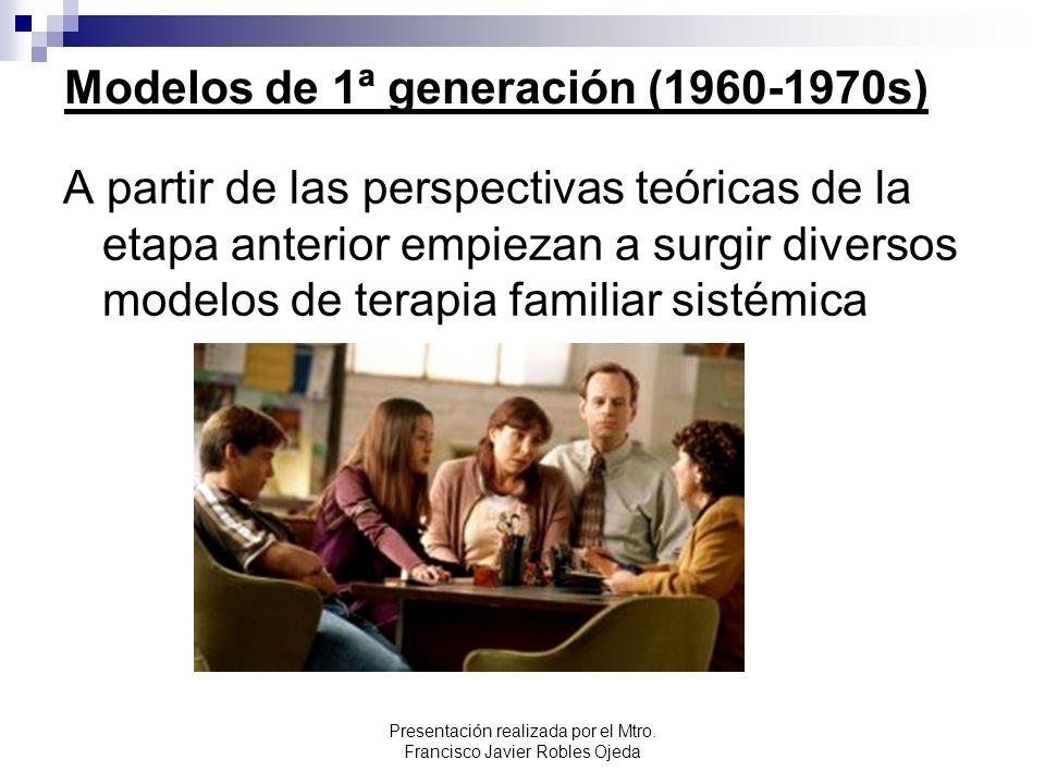 Modelos de 1ª generación (1960-1970s)