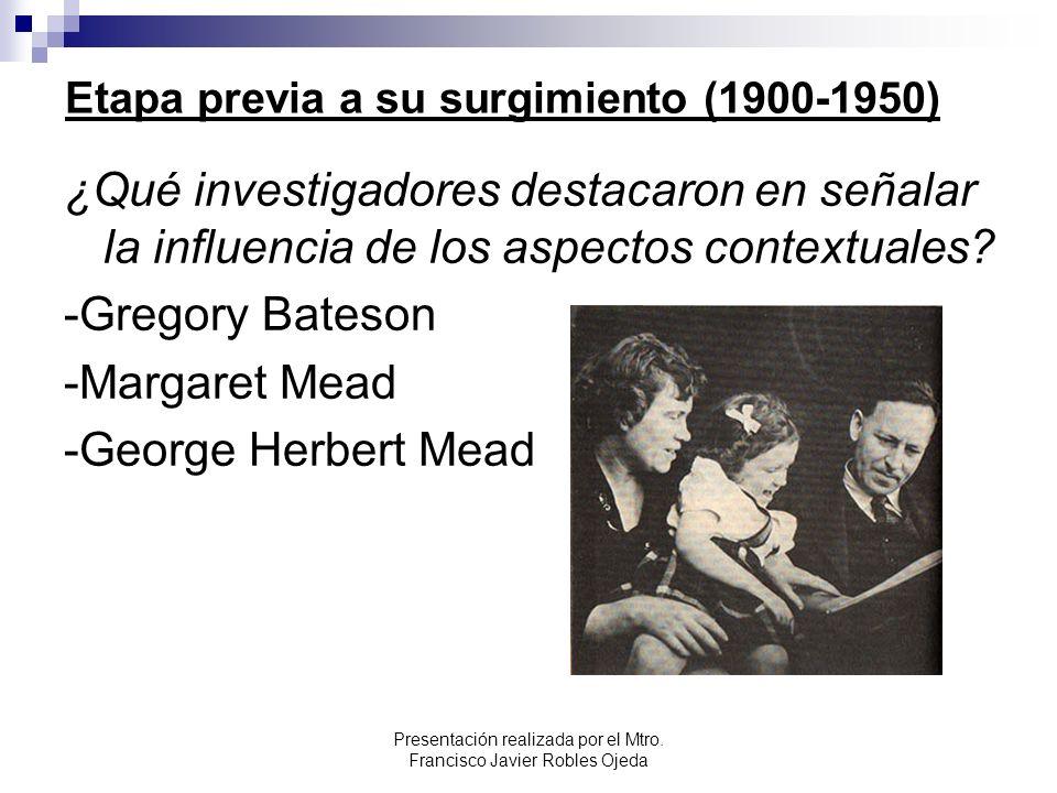Etapa previa a su surgimiento (1900-1950)