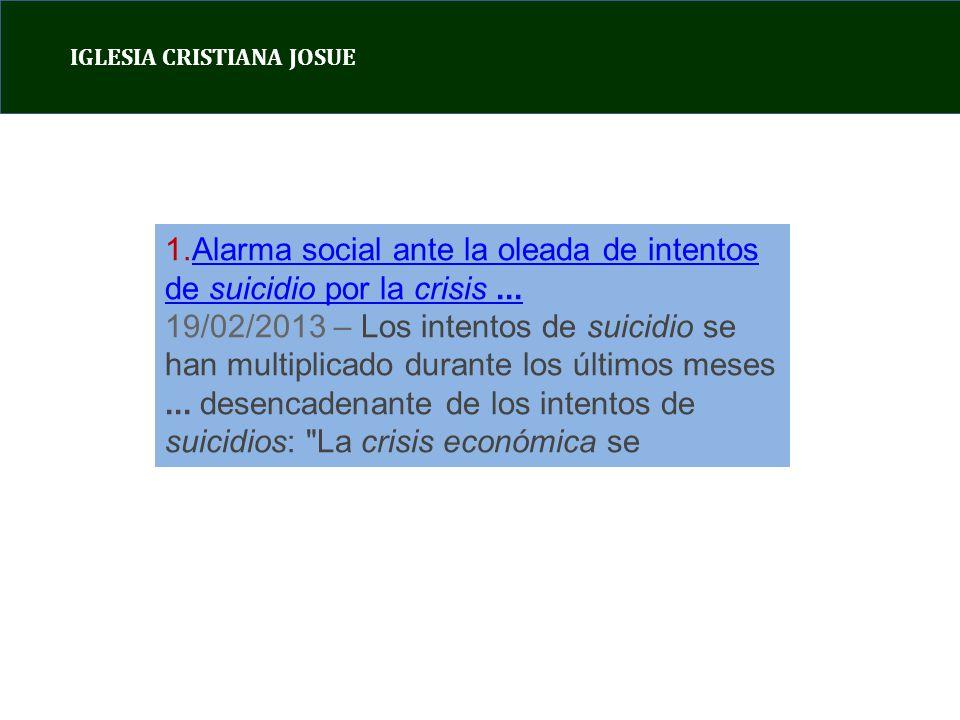 Alarma social ante la oleada de intentos de suicidio por la crisis ...