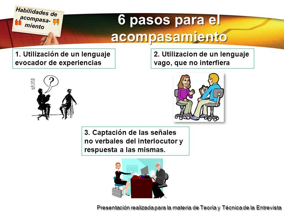 6 pasos para el acompasamiento