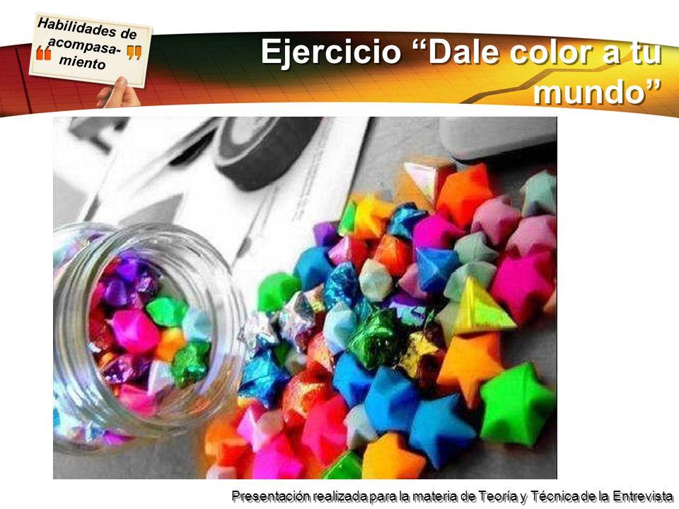 Ejercicio Dale color a tu mundo
