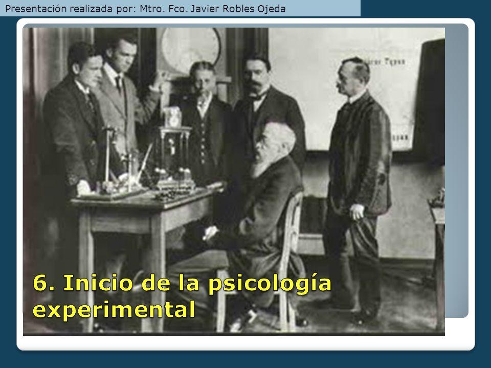 6. Inicio de la psicología experimental