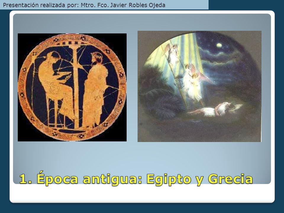1. Época antigua: Egipto y Grecia