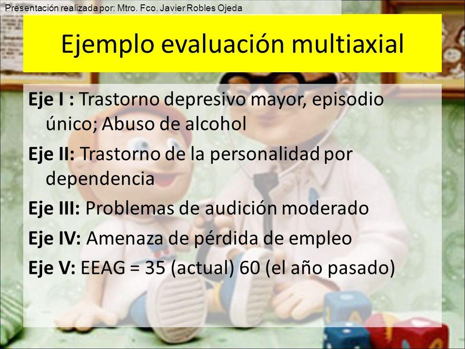 Ejemplo evaluación multiaxial