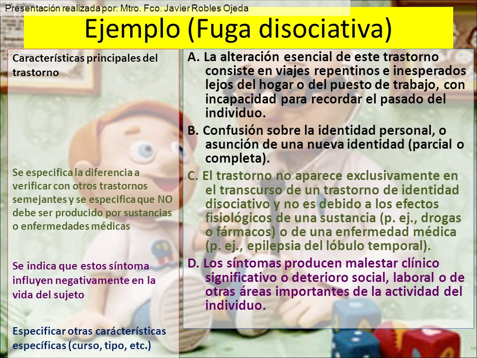 Ejemplo (Fuga disociativa)