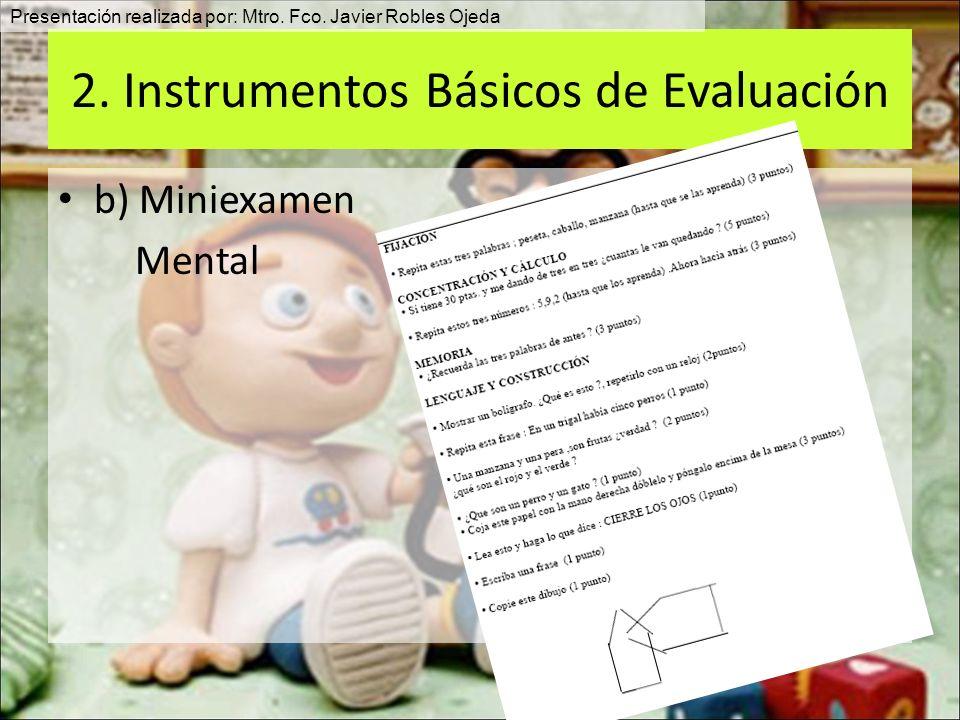 2. Instrumentos Básicos de Evaluación