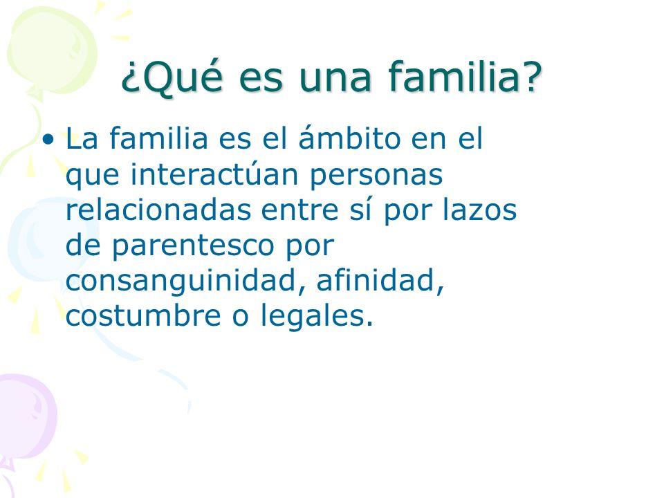 ¿Qué es una familia