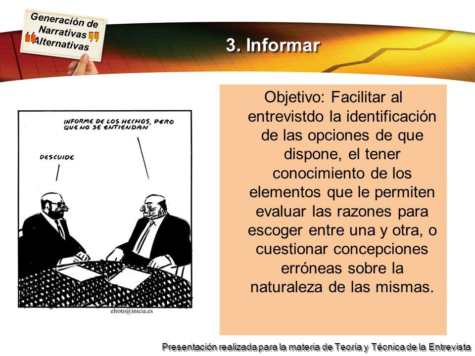 3. Informar