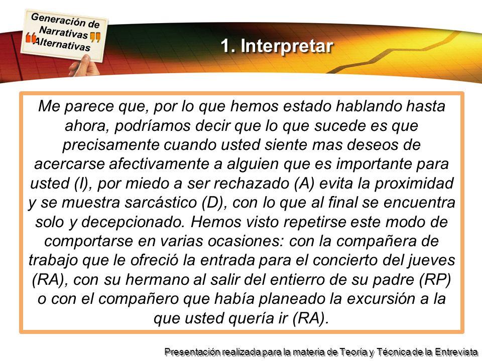 1. Interpretar