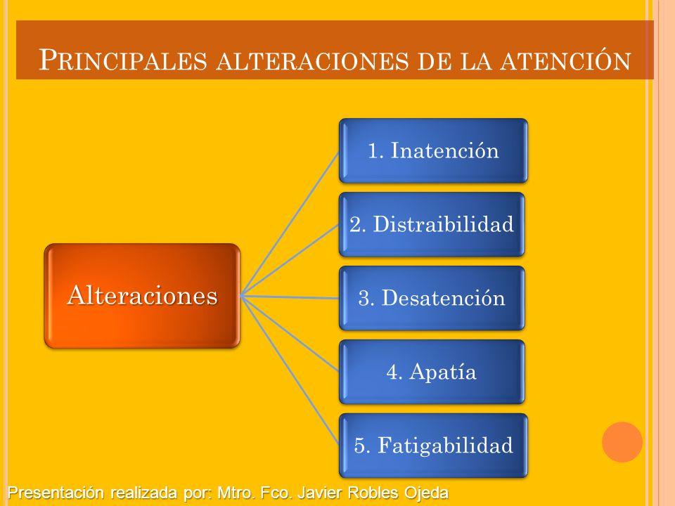 Principales alteraciones de la atención