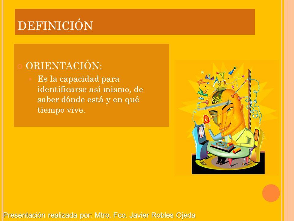 definición ORIENTACIÓN: